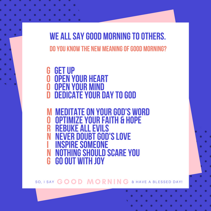 What Does Good morning Mean?