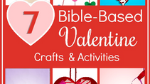 FREE Kid's Valentine's Day Bible Lessons | Seven  Children's Bible Based Crafts about God's Love