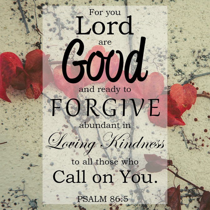 Daily Bible Verse On God's Forgiveness - Bible Time - Bible Verses