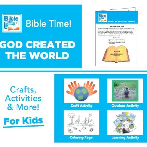 Bible Time Digital Family Fun Pack - Segment 1