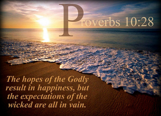Daily Bible Verse About The Hope Of The Righteous - Bible Time - Bible Verses