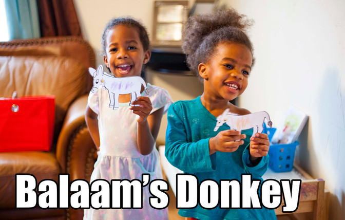 Balaam's Donkey - Kids Bible Activities