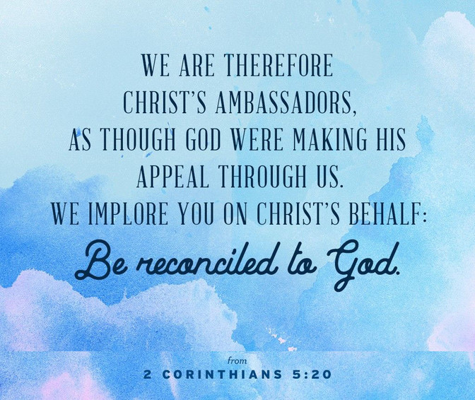 Daily Bible Verse On Being Reconciled To God - Bible Time - Bible Verses