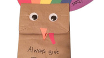 FREE Children's Thanksgiving Day Craft - Easy Paper Bag Turkey Puppet for Kids | Bible Time Fun