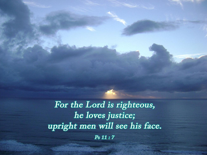 Daily Bible Verse About The Lord Is Righteous - Bible Time - Bible Verses