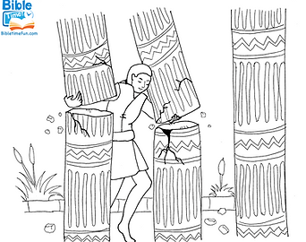 Samson-free-bible-coloring-page.png