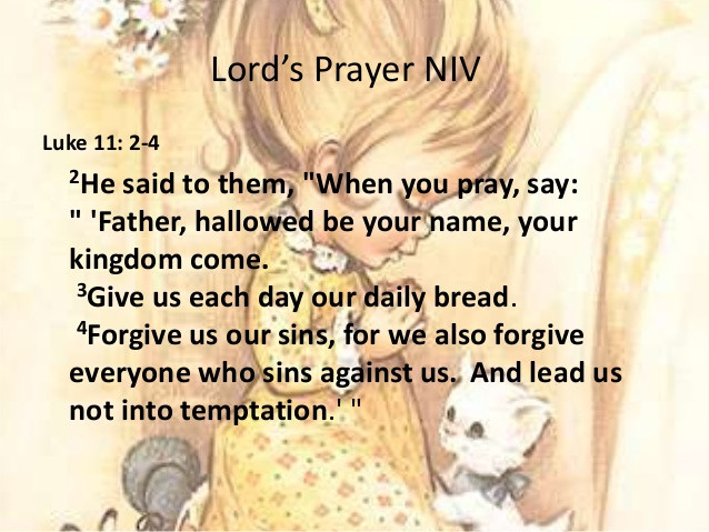 Daily Bible Verse About The Lord's Prayer - Bible Time - Bible Verses