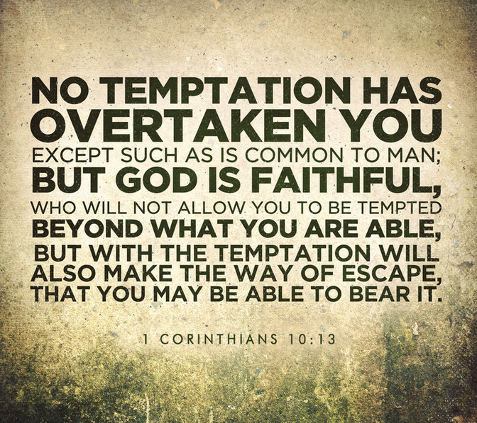 Daily Bible Verse About Temptation - Bible Time - Bible Verses