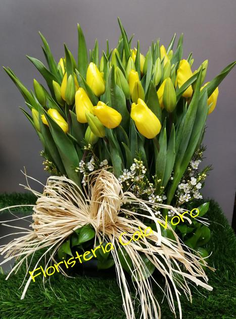 Centro tulipanes