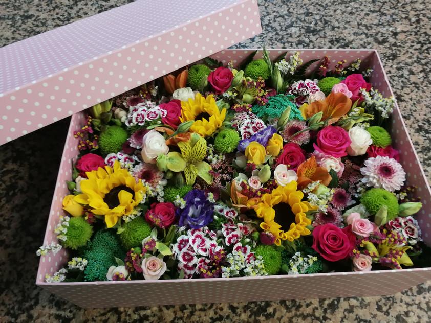 Caja flor natural