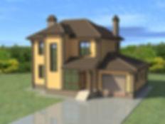 Дом с гаражом кирпич  S-184.jpg