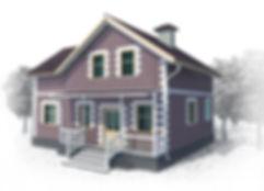 дом мансардный 129 кв м