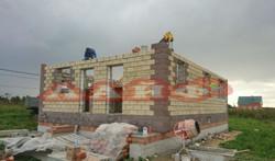 строительство дома из теплоблоков марий