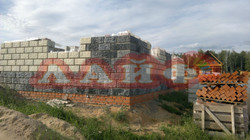 Возведение стен из теплоблоков Лайф