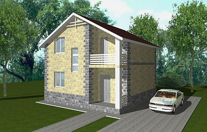 дом из теплоблоков 84 кв м