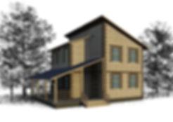 дом из теплоблоков 88 кв м