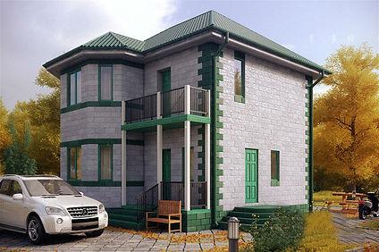 дом двухэтажный 92 кв м