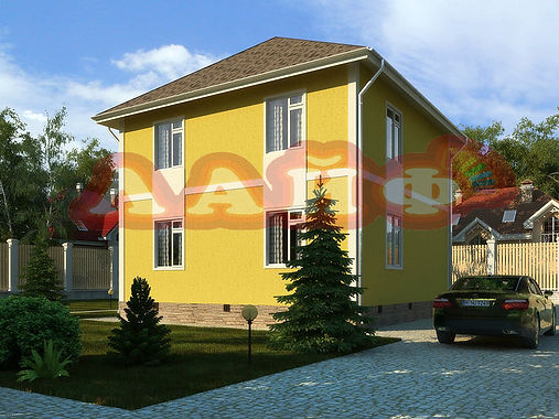Штукатурка фасада дома Лайф Йошкар Ола
