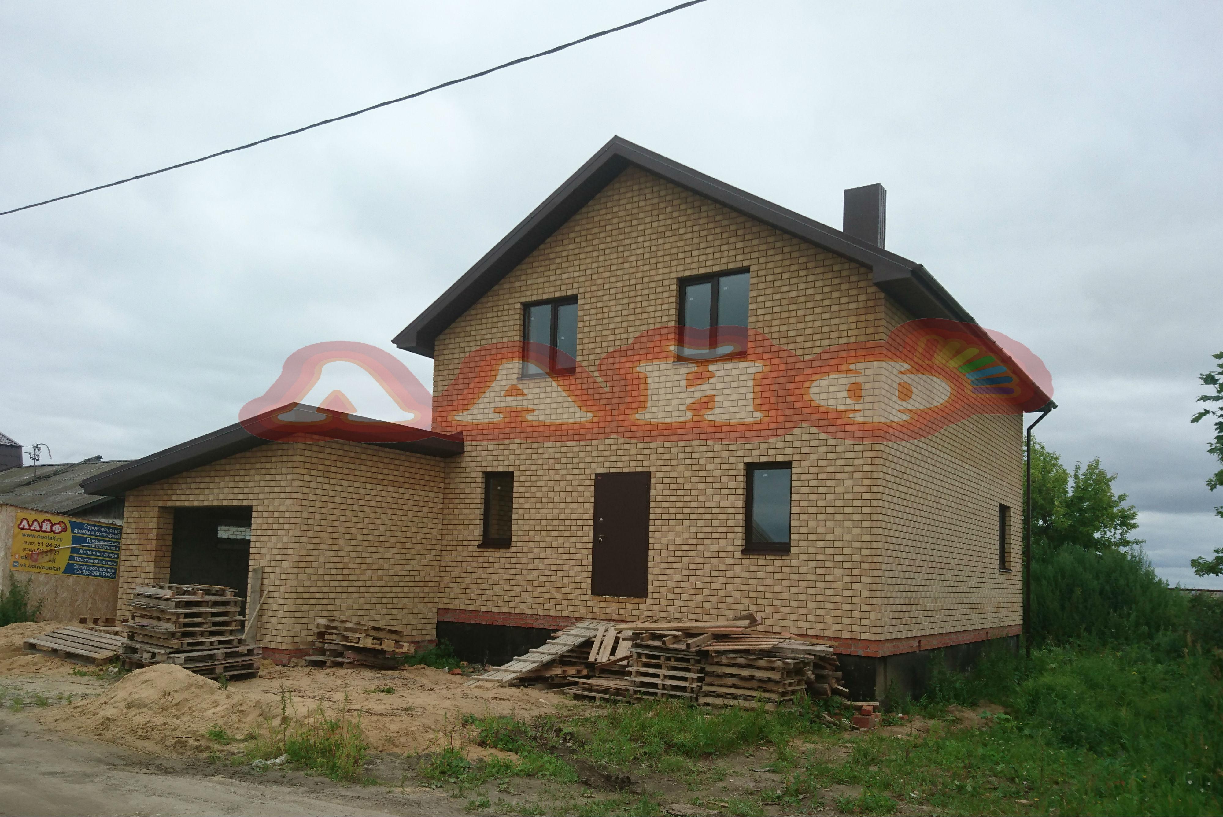 дом с гаражом из кирпича лайф йошкар ола