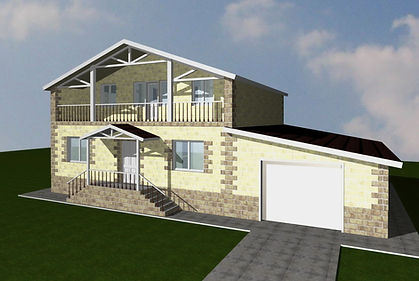 дом двухэтажный с гаражом 205 кв м