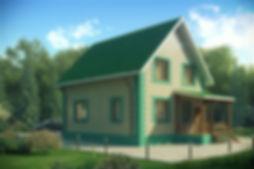 дом мансардный 131 кв м