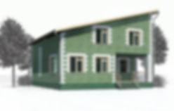 дом мансардный 154 кв м