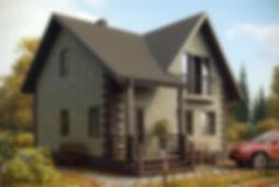 дом мансардный 90 кв м