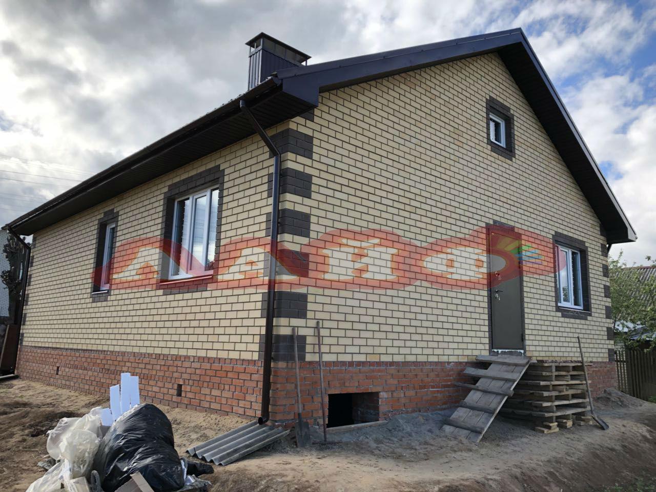 дом из керамического блока и кирпича
