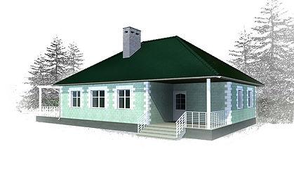 дом одноэтажный 123 кв м