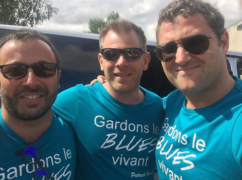 T.shirt Gardons le Blues vivant