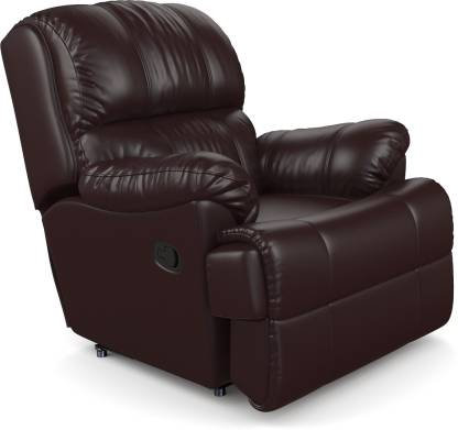 Faux Leatherette - Manual Recliner  (Brown)