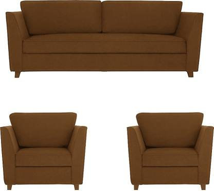 Westido Fabric 3 + 1 + 1 Beige Sofa Set