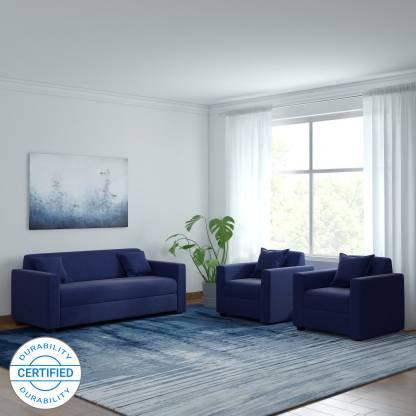 Navy Blue - 3+1+1 Fabric Sofa
