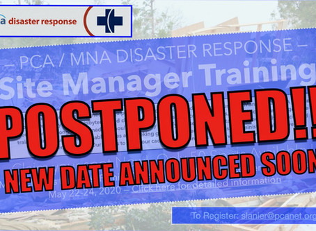 Site Manager Training Postponed