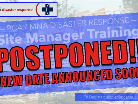 Site Manager Training Postponed