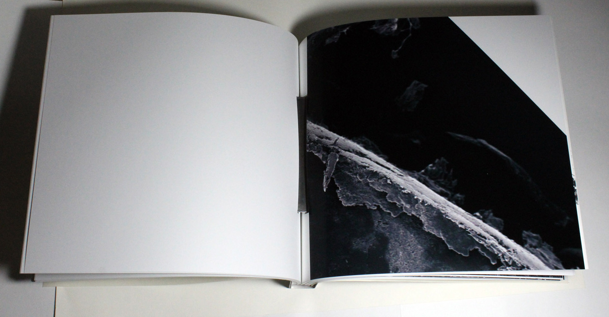 Edge of carbon paper