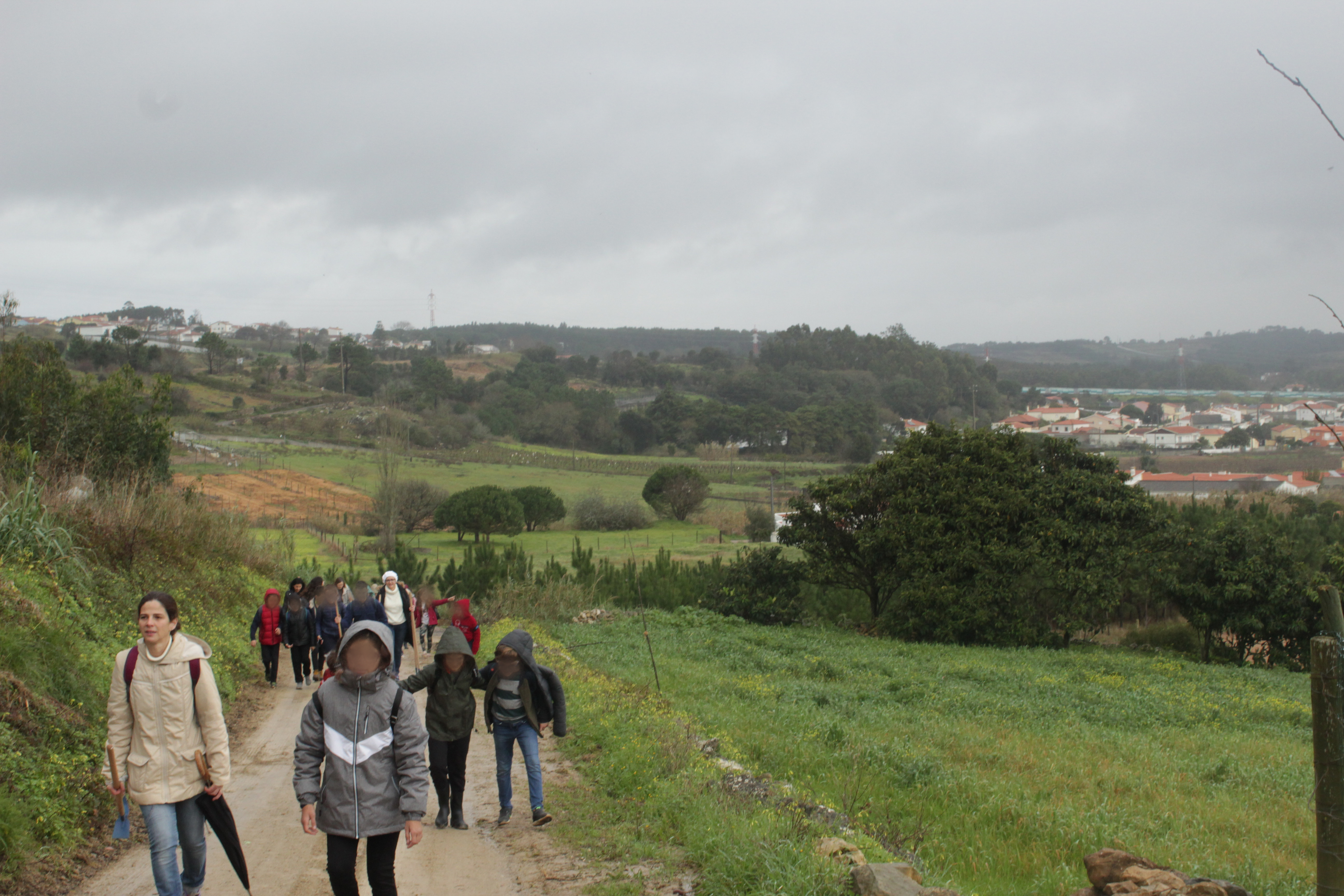 Walking up to the hills