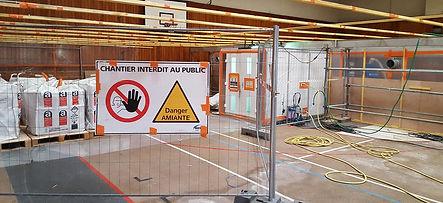 Installation chantier désamiantage