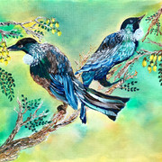 Tui Birds on a Kowhai Tree.jpg