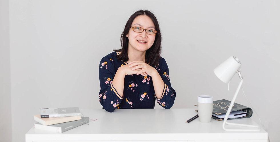 Online Business Coach Nathalie Nguyen, Über mich Seite