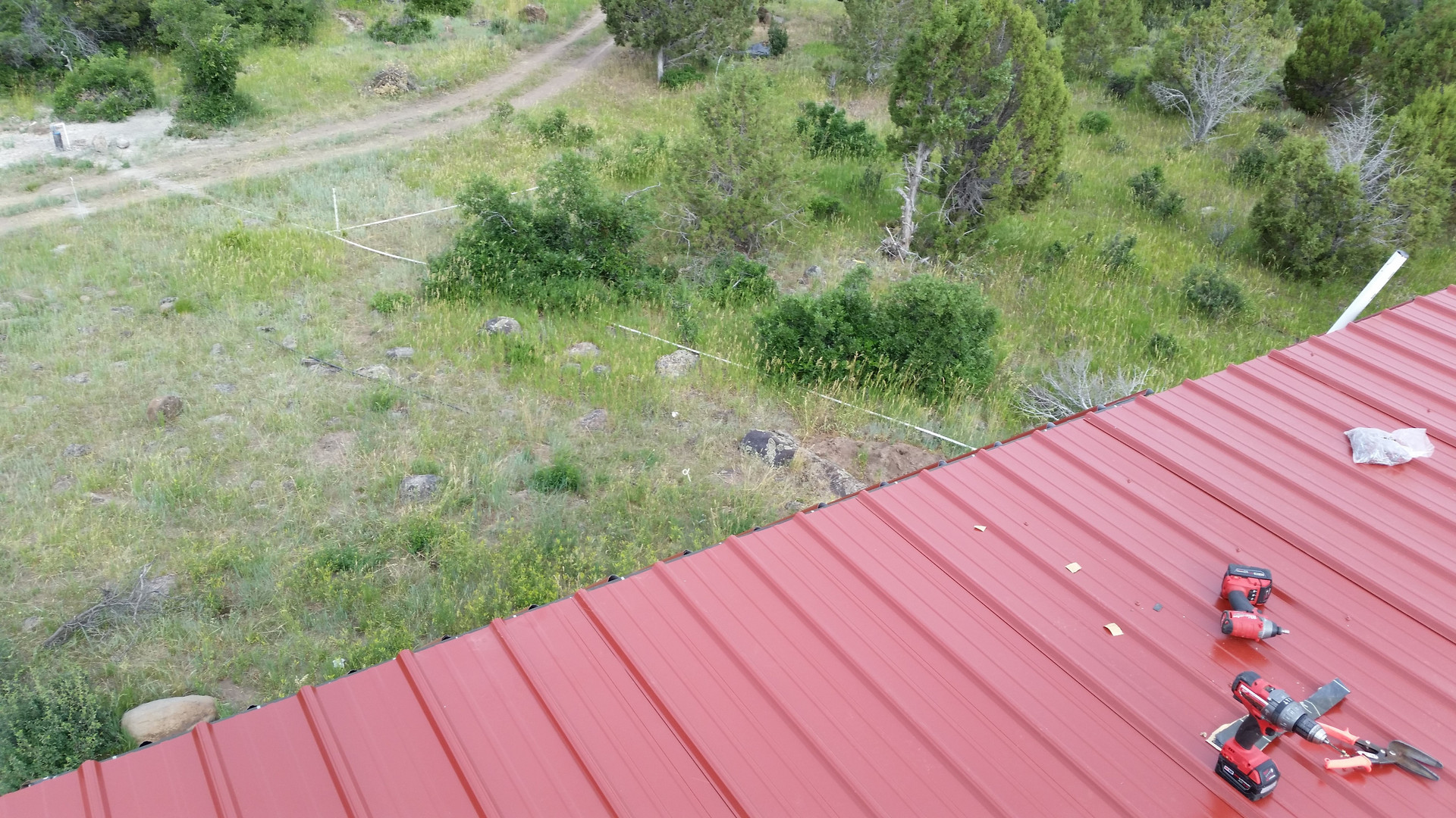 Roof view SW facing