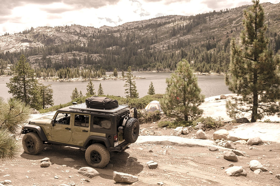 Jeep with lift Kit, Wheels & Tires
