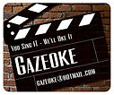 Gazeoke Marryoke Clapperboard Logo