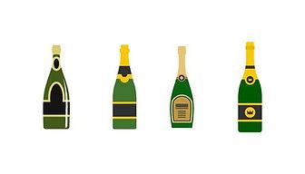 93961551-champagne-icon-set-flat-set-of-