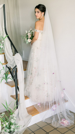 Aubrey Rose Chapel length Veil