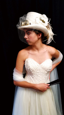 Steampunk Bridal Tophat