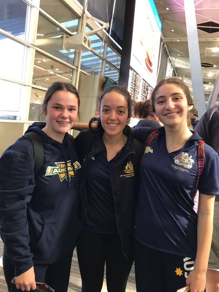 Marist Dragons - World Nations 2017 Amelia, Olivia and Gen Airport