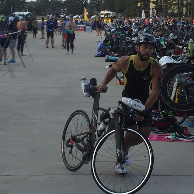 Suri is looking strong!! Only his second triathlon, going for his first Half Ironman distance race!!