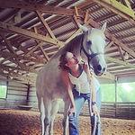 Erica Under Horse.JPG