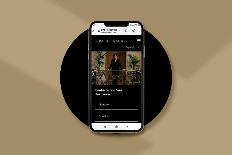 Diseño web móvil Sira Hernández